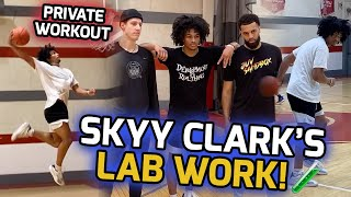 Skyy Clark Works On His FULL BAG With Elite Skills Specialist! Full PRIVATE Workout! 🔥