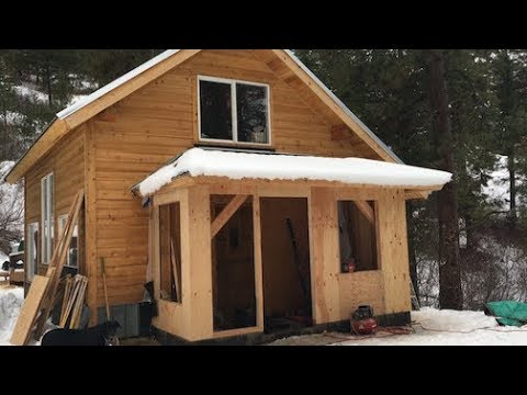Mountain Dream Home — Timber Frame Mudroom Gets Closed In