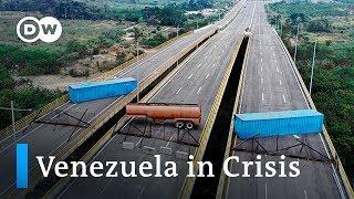 Venezuela blocks US aid transports | DW News