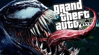 THE VENOM MOD w/ SUPER STRENGTH POWERS (GTA 5 Mods Gameplay)