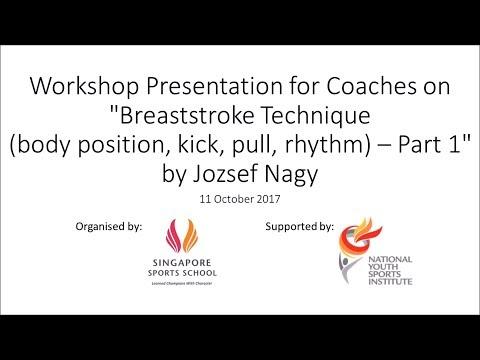 Jozsef Nagy | Breaststroke Technique (body position, kick, pull, rhythm - Part 1/2