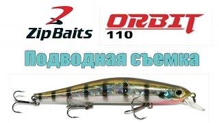 ZipBaits Orbit 110 Подводная съёмка Уловистый цвет