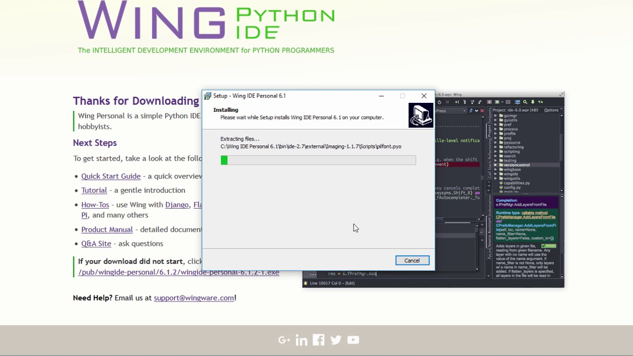 Download And Install Wing Python IDE 2018