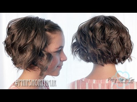 FLATIRON CURLS FOR SHORT HAIR