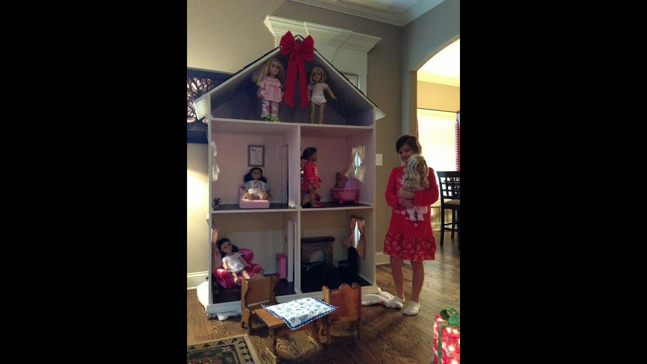 tour of my american girl doll house i got for christmas
