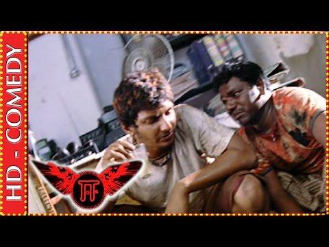Jiiva & Karunas getting caught by cops | Ee Tamil Movie | Comedy Scene