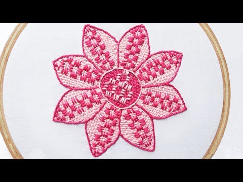 Hand Sewing : Flower Embroidery
