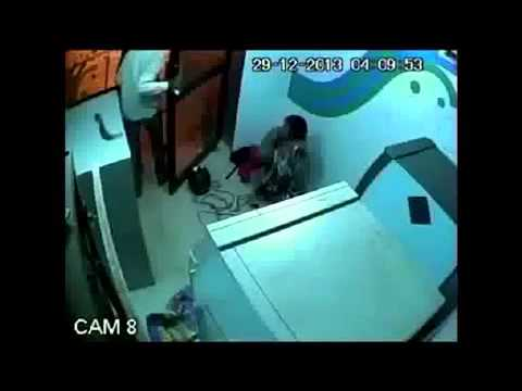 CCTV-Attack On ATM Security Guard