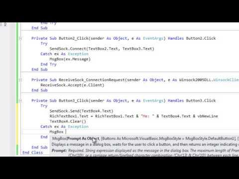 LAN Chat Program In VB 2012