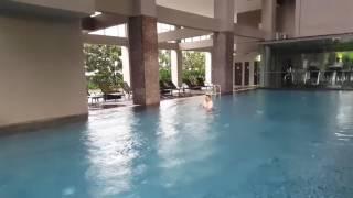 한국미협 소산 한명숙  큰아들과 싱가폴 V라벤더 호텔에…