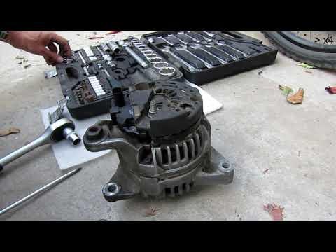 Vw Passat B5+ 1.8t Generator замена реле напряжения. Как снять генератор. высокий уровень напряжения