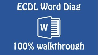 ECDL Word Mock DIAG 2016 17 100% walkthrough