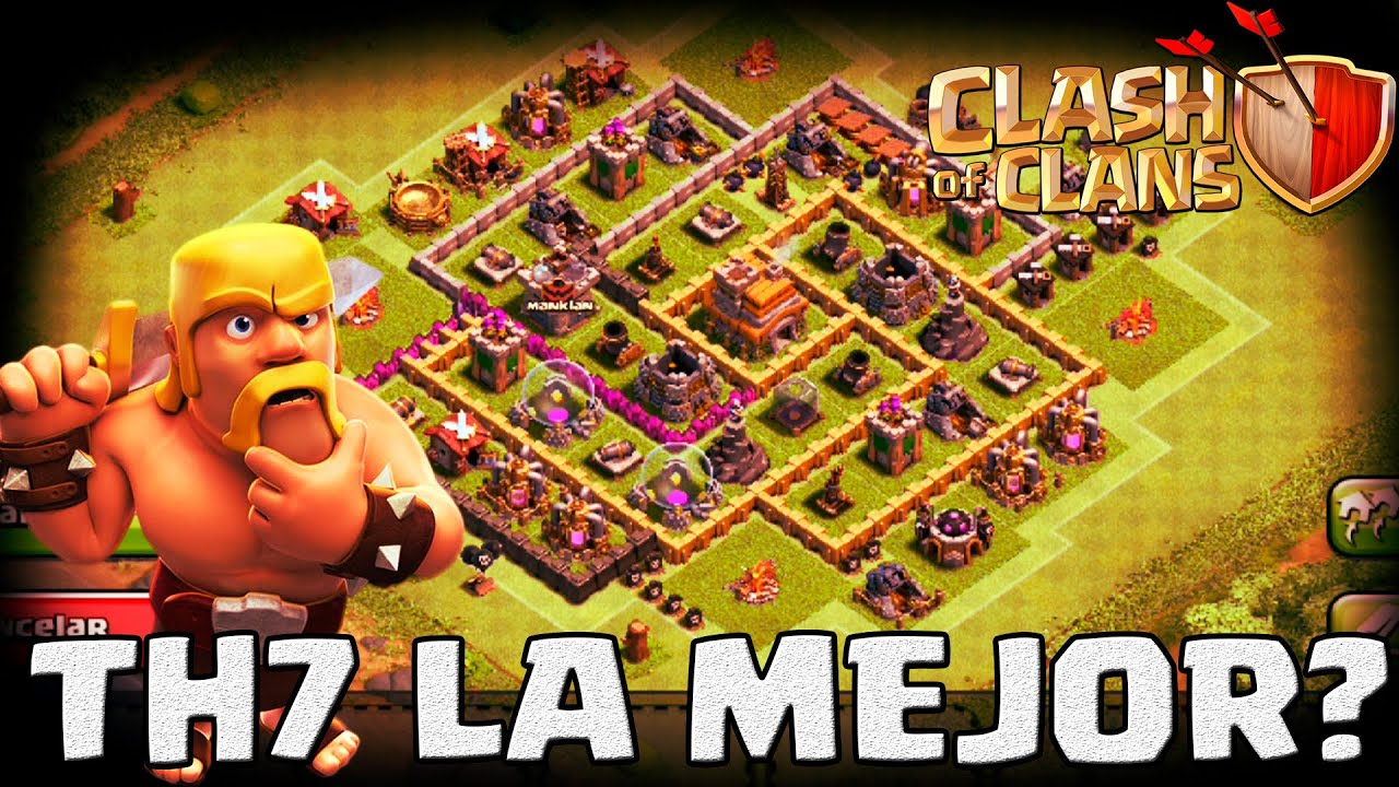 Th7 la mejor aldea clash of clans thepedoman fck youtube