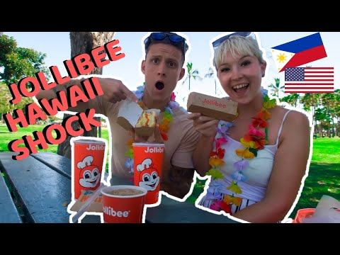 Foreigners shocked to find Filipino Fast Food Jollibee in Hawaii!!!! Plus taste test!!