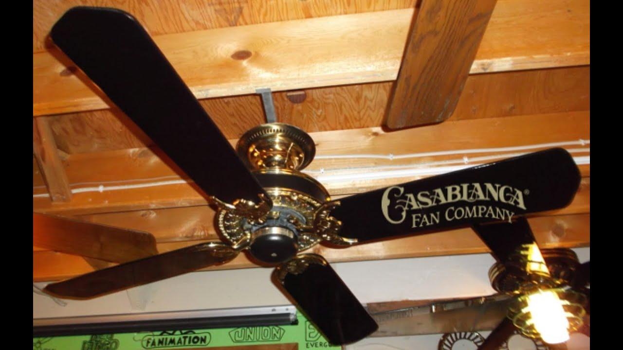 Casablanca Cambridge Ceiling Fan Post Restoration Youtube