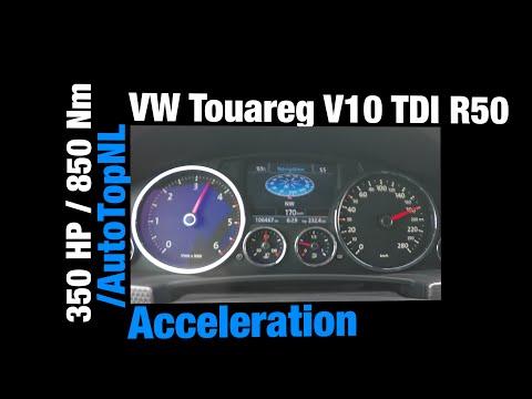 VW Touareg 5.0 V10 TDI Acceleration R50 FAST! 0-201 km/h Acceleration