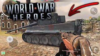 MI PRIMERA MEJOR PARTIDA ONLINE! WORLD WAR HEROES GAMEPLAY ANDROID!