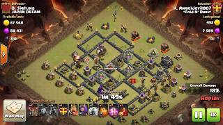 LAVAZAP | Clash Of Clans| TH 9 Attack Strategy
