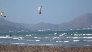 www edmkpollensa com kitesurfing lessons in mallorca in May wind in mallorca foilboard and kites in