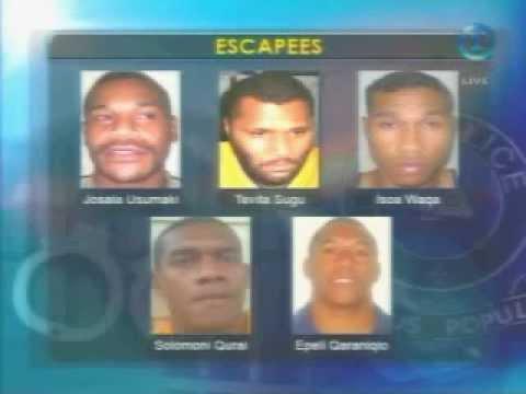 Prison Breakout , Escapee Update     Fiji