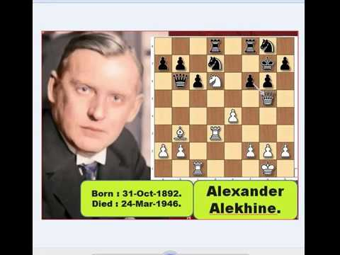 Game Of The Day : 61. Alexander Alekhine Vs Emmanuel Lasker 1934.