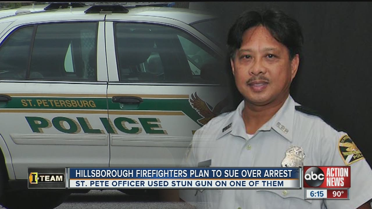 Two Hillsborough firefighters filing complaints and lawsuit against St   Petersburg Police Department