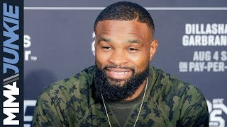 Tyron Woodley backstage interview at UFC 227