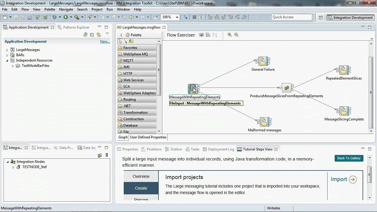 Toolkit Tutorial Video 4: Large Messaging - IBM Integration
