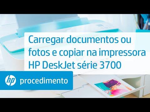 Carregar documentos ou fotos e copiar na impressora HP DeskJet série 3700
