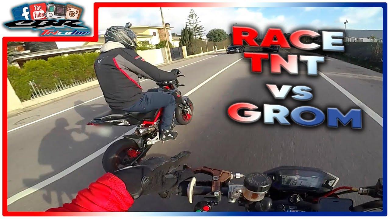 🏁 RACE: Benelli TNT 125 vs Honda MSX GROM 125 🏆 - YouTube