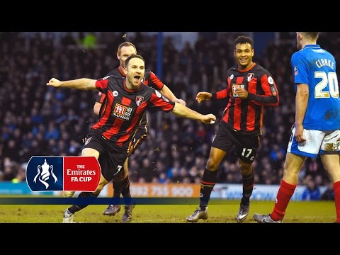 Portsmouth 1-2 Bournemouth – Emirates FA Cup 2015/16 (R4) | Goals & Highlights