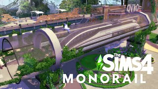 MONORAIL HOUSE | ECO LIFESTYLE | The Sims 4 Speed Build | NOCC
