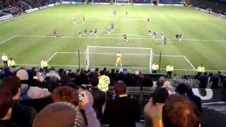 AFC Wimbledon- AFC Wimbledon striker Jack Midson Penalty v Gillingham, Sat 21 Jan 2012