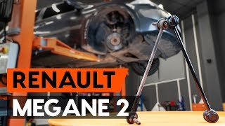 How to change front anti roll bar link / front drop link on RENAULT MEGANE 2 (LM) [AUTODOC]