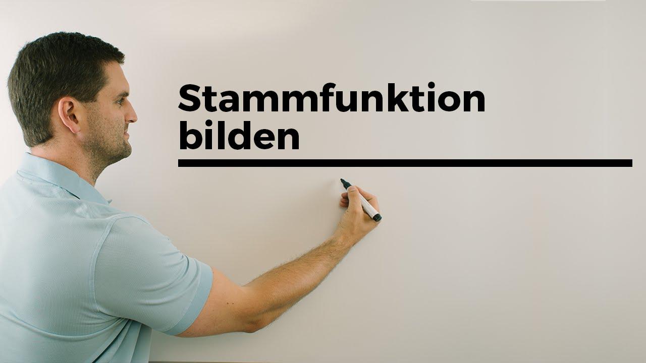 Stammfunktionen bilden, Sonderheiten, Aufleiten, Integrieren, Übersicht | Mathe by Daniel Jung