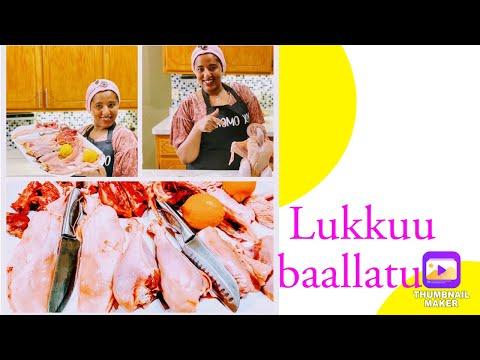 Lukkuu(Hindaanqoo) akkaataa Ciccirramu(ballatamuu). Oromo/Ethiopian food recipe. Doro bileta