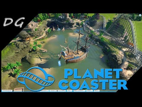 Planet Coaster Pirate Scenario Easy ( Gameplay )