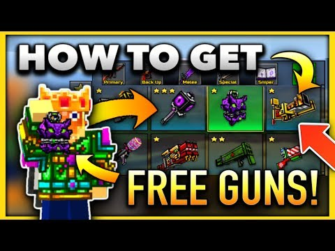 How to Get EVERY GUN for FREE in Pixel Gun 3D!