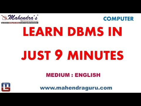 LEARN DBMS IN JUST 9 MINUTES : ENGLISH VERSION
