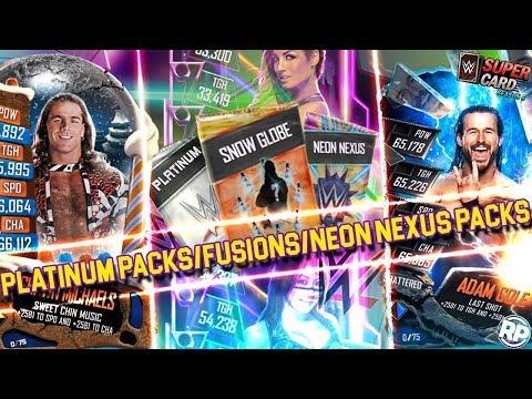 NEON NEXUS & NEON NIGHTS PACK! 3X PLATINUM PACKS & 2X CHRISTMAS FUSIONS! WWE SuperCard