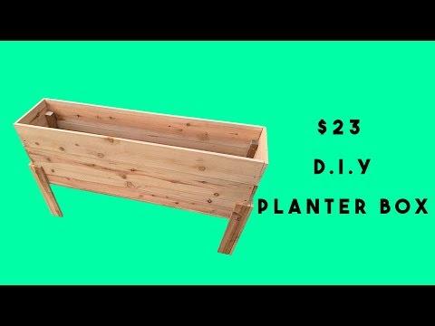 D.I.Y $23 PLANTER BOX