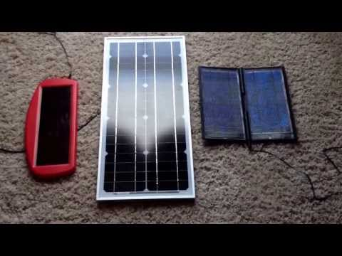Vid #5 How to charge harbor freight 12v jump starter with solar panel and charge controller hook up.