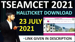 how to download ts eamcet 2021 hall ticket Tseamcet hallticket downlad date Tseamcet hallticket time