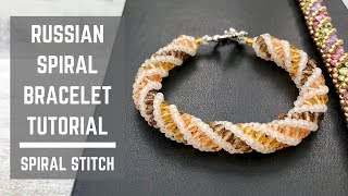 Russian Spiral bracelet tutorial | Spiral Stitch | Beaded Bracelet