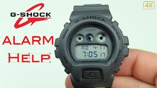 How to Turn On or Off the Alarm on a G- Shock DW6900LU