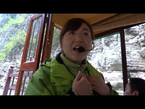BUS 6 WU SHAN CHINA ANNA SINGS LOVE SONG THREE GORGES YANGTZE RIVER  APR 5 2017