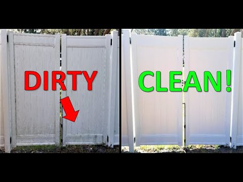 HOW TO: Clean Vinyl Fence