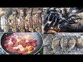 ►Balıkta ne yiyoruz Levrek Mangal Çupra Odun ateşinde Sucuklu Yumurta Menemen Midye Nargile 7fishing