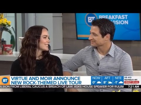 Tessa Virtue and Scott Moir on Breakfast Television Toronto April 10th 2019
