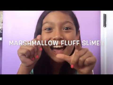 DIY marshmallow fluff slime